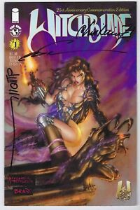 WITCHBLADE #1 25th ANNIVERSARY SIGNED BY SILVESTRI WOHL & CHRISTINA Z W/ COA