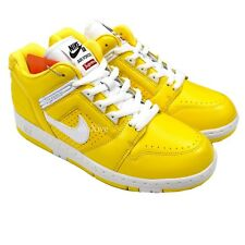 NWT Supreme Nike SB Air Force 2 AF2 Low Varsity Maize Sneaker 10 FW17  AUTHENTIC 98cd7f33cebe
