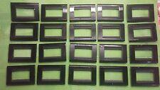 20 PLACCHE BTICINO LIVING CLASSIC 3 POSTI COLORE NERO COD. 4713NR