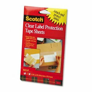 3M Scotch Clear Label Protection Tape Sheets