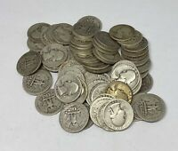 1930's ONLY Washington Quarters $10 Face Value 90% Silver Roll 40 Coin Bulk Lot