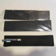Lot of 3 MIDNIGHT BLACK SUEDE LEATHER Pen Pouch/Sleeve/ Holder