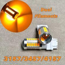 Front Turn Signal Parking Light AMBER SMD LED Bulb T25 3057 3157 4157 SRCK W1 A