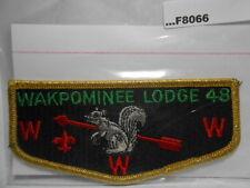 WAKPOMINEE LODGE 48 GOLD MYLAR FLAP F8066