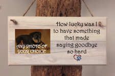 PERSONALISED PHOTO PLAQUE, SIGN. Memorial, In Loving Memory PET, DOG, CAT, HORSE