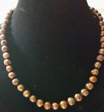 """Honora Brown 20"""" Graduated Ringed Pearl Necklace with H925 Clasp ** Stunning **"""