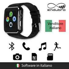 endubro SMARTWATCH X6 BLUETOOTH, FOTOCAMERA E SUPPORTO SIM/TF PER ANDROID - NERO