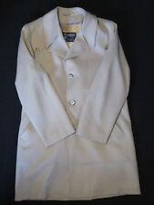 Mens Vintage Grais All Weather Coat Jacket 40 Large off White Mod Retro Atomic