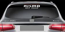 Rear Window Sticker fits Nissan Nismo off Road Vinyl Decal Emblem Car Logo RW120