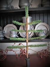 Primitive Christmas faux German feather tree