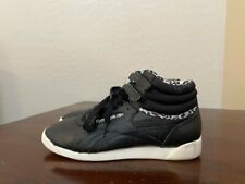 Reebok Womens Freestyle Hi Eden Sneakers Shoes Black White V60217 Lace Up 9M