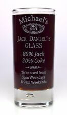 Personalised JACK DANIELS % Highball Glass Gift For Men/Him/Women/Her/Mum/Dad