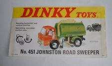Dinky Toys No. 451, Johnston RoadSweeper Truck, Rare Shop Display Sign, - Superb