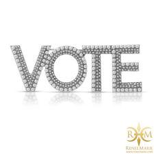VOTE CoCo Pearl Rhinestone Brooch Women's Lapel Pin