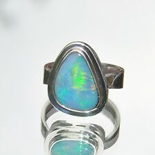 Opal Ring, 925er Silber, Edelsteinring (W20244), Doublette