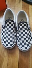Vans Asher Kid's Checkered Skate Shoes size 10