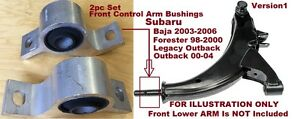 2pc Front Susp Lwr Bushings fit for 95 - 04 Subaru Baja Forester Legacy Outback