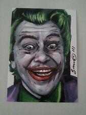 BATMAN THE JOKER CEASAR ROMERO DC COMICS SKETCH CARD JONATHAN D GORDON ACEO PSC