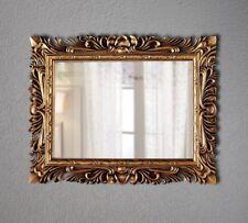 Großer Barock Wandspiegel Ornament 120x90 Standspiegel Spiegel Gold Flurspiegel