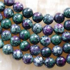 """8mm Natural Ruby Zoisite Round Loose Beads 15"""" x-04"""