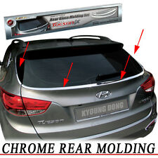 Rear Exterior Chrome Garnish Molding Trim 4EA For 2010 2012 Hyundai Tucson ix35