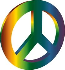 Peace Sign CND 3D World Peace Sticker Decal Graphic Vinyl Label