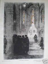 L'Eglise Ouverte Paul Jouve WW1 church print 1914