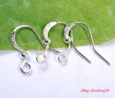 100PCS plate Silver Earring Hooks Ear Wires Findings SH305