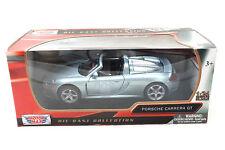 Motormax Porsche Carrera Gt Plata 1/24 Coche de Metal 73305sil