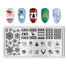 Born Pretty Para Uñas Stamping Placa Navidad Copo De Nieve imagen Sello Plantilla BP-L032