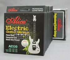 12 Sets AE530 Hexagonal Core .009-.042 inch Nickel Steel Electric Guitar Strings