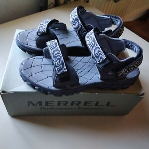 NEW Mens MERRELL Grey Lanai Sandals Size 10  medium width Boxed & New