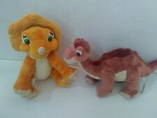 Land Before Time Littlefoot and Cera Plush Lot Universal Studios 2007 Set