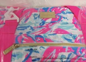 Lilly Pulitzer NWT 18x13x8 Cooler Cosmic Coral Cracked Up Free Shipping