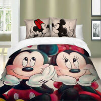 Mickey Minnie Duvet Cover Set for Comforter Twin Queen King Size Bedding Set