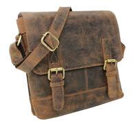 Leder Umhängetasche Schultertasche Freizeittasche Arbeitstasche Vintage klein