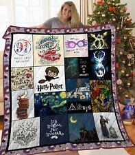 Harry Potter Hogwarts School of Witchcraft and Wizardry Fleece Blanket