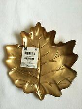 Martha Stewart Collection Harvest Gold Leaf Appetizer Plate 4pc