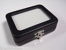 "GLASS TOP GEM BOX -3.25x2.5"" - Storage/Display gold nugget,gemstone,coin,mineral"
