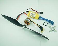 041BKa:1 set KV1370 Brushless Motor w/Prop.,30A ESC Kit for RC 3D Plane FW:750g