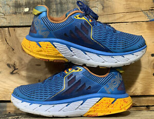 Hoka One One Gaviota Athletic Running Shoes Womens 10.5 Multicolor Blue Orange