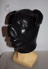 LATEX BLACK GUM FETISH PIG FULL HEAD RUBBER HOOD BOAR DOLL MAN MEN COSPLAY MASK