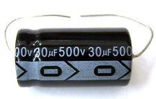 Qty 6 New MIEC 30UF 500V New Axial Electrolytic Capacitors