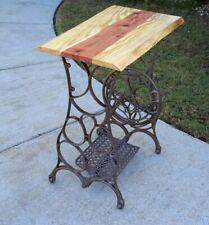 Treadle Table-LIVE EDGE Poplar & Cedar