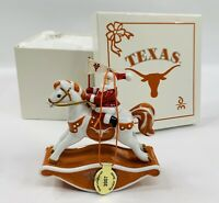 Danbury Mint 2007 Texas Longhorns Rockin' Santa Christmas Ornament