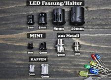 LED Fassung Schraube Halter Screw 3,5,8,10 mm Leuchtkappe Montageringe Clips DIY