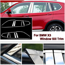 22pcs Stainless Steel Chrome Full Window Frame Sill Trim For BMW X3 2011-2016