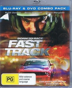 Born To Race FAST TRACK Blu-Ray & DVD Combo Pack NEW & SEALED Free Post Tracked