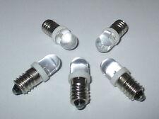 LED bulbo de tornillos E10 3,5 -4 , 5 VOLTIOS 5 pzas NUEVO