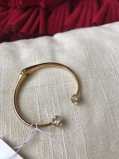 Kate Spade Gold Rose and Diamond the Spade Hinged Bangle